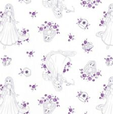Camelot Disney Princess Forever 85100520 1 Purple Rapunzel Toile Cotton Fab