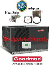 "4 Ton 14 seer Goodman A/C""All in One""Package Unit GPC1448H41+TSTAT+Heat+ADAPTERS"