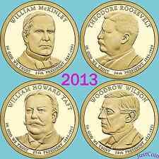 2013 ALL 8 P&D McKINLEY ROOSEVELT TAFT WILSON PRESIDENTIAL GOLDEN DOLLARS SET
