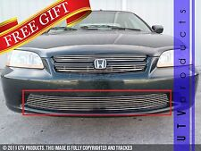 GTG 1998 - 2000 Honda Accord 4dr 1PC Polished Overlay Bumper Billet Grille Grill