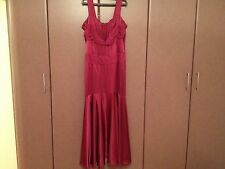 JOVANI- WINE EVENING  GOWN  FORMAL  BALL PROM PAGEANT DRESS SZ 14