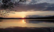 """LARGE CANVAS ART PICTURE SUNSET LAKE PHOTOGRAPHY 34x20"""""""