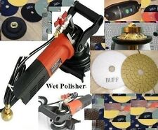 Wet Polisher 220V Grinder 20mm Roundover Bullnose Granite Router Pad Glaze Buff