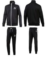 MEN'S PUMA ARCHIVE T7 TRACK SPORT SWEAT TRACK JACKET & PANTS TRACKSUITS BLACK