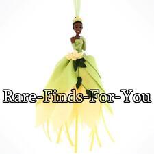 Disney Parks Princess and the Frog Tiana Glitter Dress Christmas Ornament (NEW)