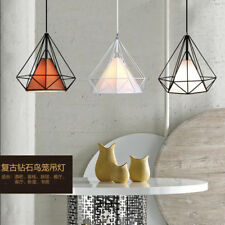 2Pcs Modern Metal Iron Diamond Ceiling Pendant Light Lamp Shade Chandelier