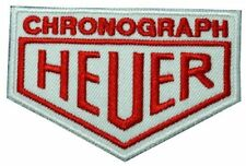 """TAG Heuer Chronograph Sponsor Racing 1.8""""x2.7"""" Logo Sew Iron On Embroidery Patch"""