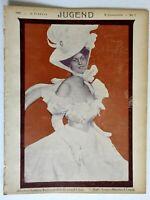 Woman in Dress Jugend Magazine 1900 Issue 7 Jugenstil Art Nouveau graphics