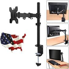 Single Arm Monitor Rotating Desk Table Mount Stand Holder For 27 Inch 1 LCD