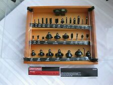Craftsman 30pc. Carbide Tipped Router Bit Set in Case
