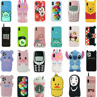 3D Cartoon Cover Case For iPhone 11 Pro Max 11 XS Max XR XS X 8 7 6S 6 Plus 8 5S