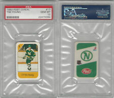 1982 Post Cereal Hockey, #17 Tim Young, North Stars, PSA 10 Gem