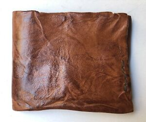 Exclusive EngsoNYC designer Brown leather Wallet vegetable tanned, signed