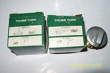 "(2) Vintage New Old Stock Acro Welch Thumb Turn No. 6410 , 1"" Made In Usa"