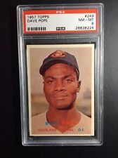 1957 Topps #249 Dave Pope Cleveland Indians PSA 8