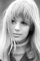 Marianne Faithfull Portrait Canvas Wall Art Movie Poster Print Singer Icon