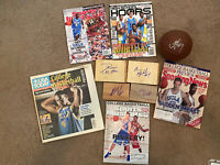Signed UCLA Basketball Magazine Floor Board Ball Lot10 Love Collison Afflalo+NBA