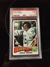 1975 Topps Steve Owens Detroit Lions #333 Football Card PSA 5