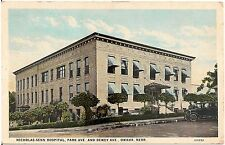Nicholas-Senn Hospital in Omaha NE Postcard 1929