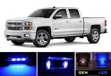 Blue Vanity / Sun visor LED light Bulbs for Chevrolet Chevy Silverado (4 Pcs)