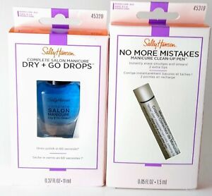 No More Mistakes Manicure Clean-Up Pen Corrector 45319 and Dry + Go Drops 45320