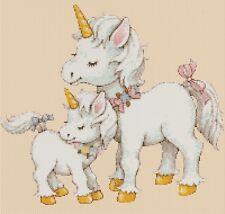 Bebé Unicornios Punto de Cruz Kit Completo #5-430/3