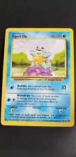 EXCELLENT! Squirtle (63/102) Base Set Pokemon Card. Rare! FAST & FREE P&P!