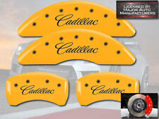 "2013-2019 ""Cadillac"" XTS Front + Rear Yellow MGP Brake Disc Caliper Cover 4p Set"