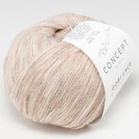 25g GOBI LACE KATIA Wolle Baby Kamel Merino extrafine col.106 camel wool yarn