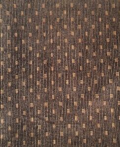 Brown Velour Polka Dot Spot Pattern Upholstery Fabric Material 140cm wide No.242