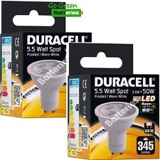 2x Duracell GU10 5.5 Watt (=50 Watt) LED bulb Spot light 345 Lumens (Warm White)