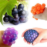 Squishy Mesh Ball Grape ADHD Toy Anti Stress Face Reliever Autism Mood Relief