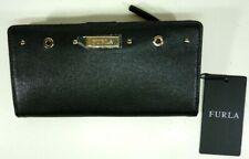 Furla Textured Leather Bi-fold Wallet Onyx Black Color 00983662