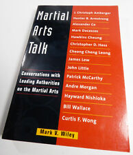 New book Martial Arts Talk Leading Authorities Self-Defense Weapons Karate Judo