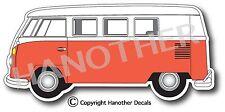 VW Volkswagen Bus Decal Sticker V2 RED BUS Transporter Combi Split Window Bus