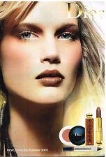 Publicité Advertising 2003 Cosmétique Maquillage Dior