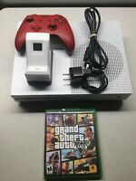 Microsoft 1681 XBox One S (2018) Video Game Console 1TB - White 1 GAME INCLUDED