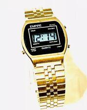 Vintage Empire Men's Quartz Digital Wrist Watch GoldTone N.O.S(20265M)