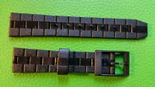 BRACELET MONTRE  /// watch bands /  PVC    MARQUE KIPLE 18MM NOIR  / JR133B