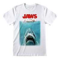 Official Jaws Poster T Shirt Shark Classic Retro Spielberg Movie S M L XL XXL