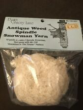 Antique Wool Spindle Snowman Yarn. 10 yards. Unopened