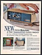 1962 BULOVA Performer Transistor Clock Radio PRINT AD Scout & Conquest Portable