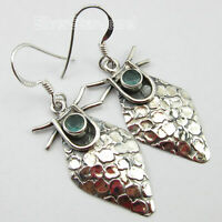 "Apatite Drop Dangle Earrings 1.7"" 925 Sterling Silver New Engagement Jewellery"