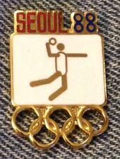 Handball Olympic Pin ~ Pictogram White ~ 1988 ~ Seoul ~ Cloisonne by HoHo NYC
