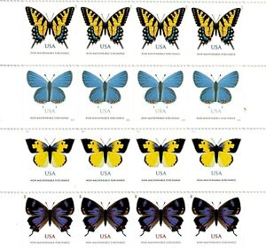 US Non-Machineable Rate Butterflies - Set of 4 Stamps Each # 4999 5346 5136 5568