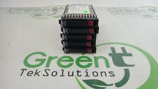 "Lot of 5x HP 146GB 15K SAS 2.5"" Dual Port HDDs 504334-001 512544-002 418373-009"