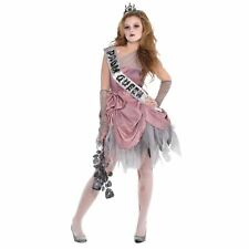 Girls Teen Zombie Prom Queen Halloween Costume Fancy Dress Outfit 12-14 Years