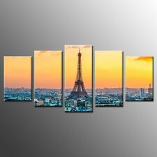 Blue Eiffel Tower Giclee Fine Art Canvas Print Poster Painting No Frame 5pcs