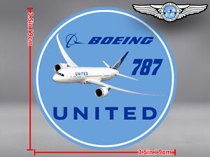 UNITED AIRLINES UAL ROUND BOEING B787 B 787 DECAL / STICKER