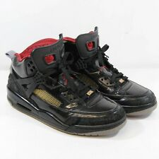 Nike Air Jordan Spizike Stealth / Black Patent Leather Trainers 2010 UK 9 EU 44